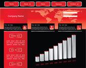 Plantilla de sitio web empresarial en formato vectorial editable — Vector de stock