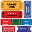 Stock Vector: Tickets in different styles