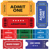Tickets in different styles — Stock Vector
