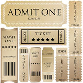 Vector set: tickets in different styles — 图库矢量图片