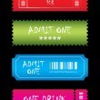 Tickets in different styles - Stockvectorbeeld