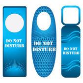 Blue door knob or hanger sign - do not disturb — Stock Vector