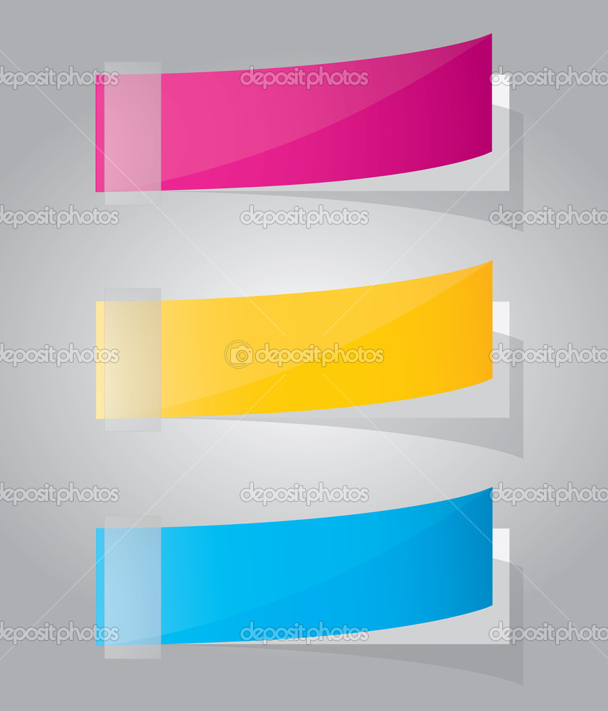 Multicolored stickers. Vector — Stock Vector #5555648