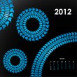 Special calendar for 2012 with tire design - 图库矢量图片