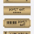 Various golden ticket set — Stock Vector