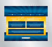 Editable website template with special design — Stock Vector
