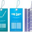 Set of price tags with tire design - Imagen vectorial