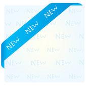 Blue corner ribbon — Stock Vector