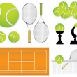 Stock Vector: Tennis sport design elements
