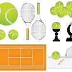 Tennis sport design elements — Stock Vector #5814965
