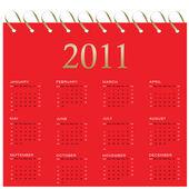 Kalendář 2011 — Stock vektor