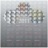 2011 kalender. abstrakt bakgrund i eps10 — Stockvektor