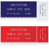 Illustration of two tickets — Stock Vector