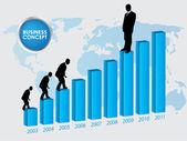 Career growth, Business progress, vector illustration — Stock Vector