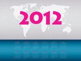 Vector calendar 2012 — Stock Vector