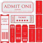 Vector set: tickets in different styles — Stock Vector