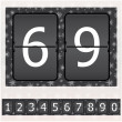 Stock Vector: Set of numbers on a mechanical timetable