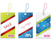 Colored price tags — Stock Vector