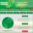 Green vector web site design template — Stock Vector