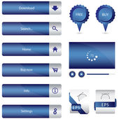 Special blue web elements collection — Stock Vector