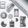 Vector set of tags — Stock Vector #6136278