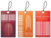 Indirimli satış etiket renkli vektör çizim — Stok Vektör