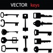 Stock Vector: Key icon set for your shop