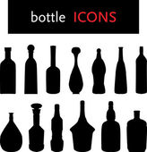 Flasche silhouetten — Stockvektor