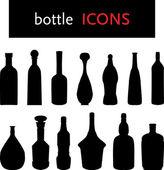 şişe silhouettes — Stok Vektör