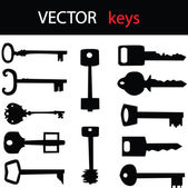 Key icon set for your shop — Stock Vector