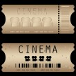 Movie ticket in different styles - vector — Stock Vector