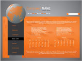 Orange web site design template - vector — Stock Vector