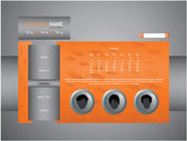 Orange web site template — Stockvector