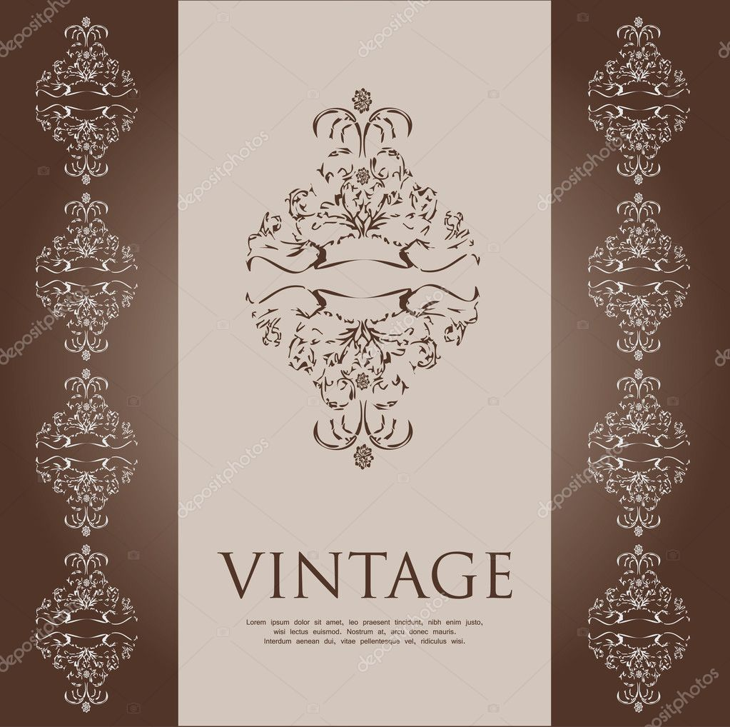 Vintage cover  Stock Vector #6367839