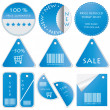 Vector set of tags — Stock Vector #6437587