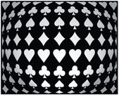 Black-white seamless poker background — Stockvektor