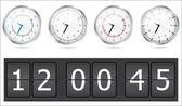 Vector conjunto de relojes — Vector de stock