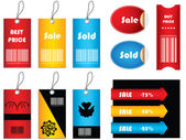 Special price tags — Stock Vector