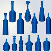 Silhouette of bottles — Stock Vector