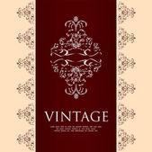 Fondo floral vintage en formato vectorial editable — Vector de stock