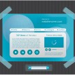 Blue website template with tapes - Stock Vector