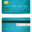 Vector credit card, front and back view — Stock Vector #6653704