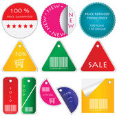 Vector set of tags — Stockvektor