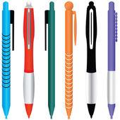 Set di strumenti realistici colorati - vettoriale — Vettoriale Stock