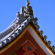 Japanese temple roof detail — Stock Photo