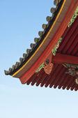 Na dachu świątyni japoński — Zdjęcie stockowe