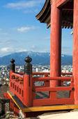 Japanese temple on mountain — Stock Photo