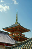 Japanese temple roofs — Stock Photo