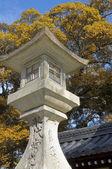 日本混凝土灯笼 — 图库照片