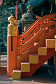 Japanese temple staircase — Stock Photo